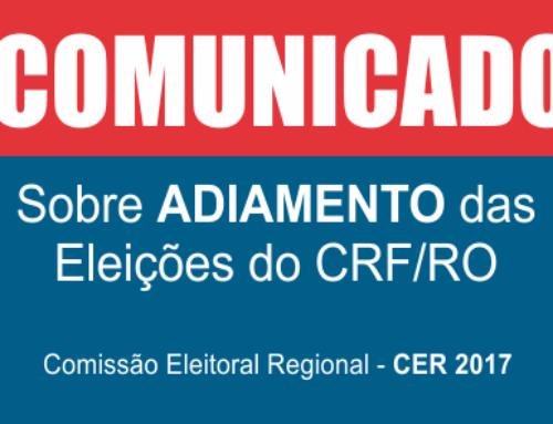 COMUNICADO sobre adiamento das eleições no CRF/RO