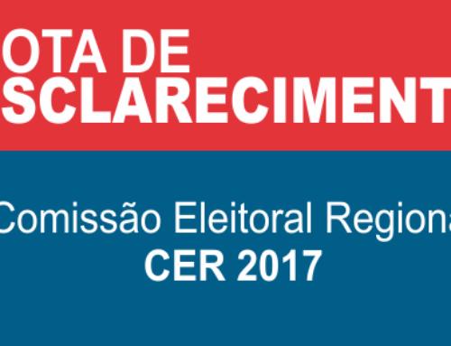 A CER (Comissão Eleitoral Regional) do CRF/RO presta a seguinte NOTA DE ESCLARECIMENTO