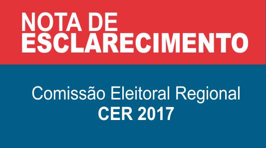 NOTA DE ESCLARECIMENTO - CER2017
