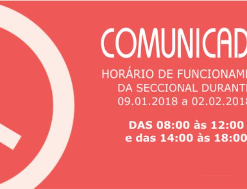 HORÁRIO DE FUNCIONAMENTO DA SECCIONAL CACOAL