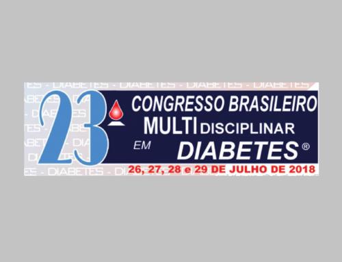 23º Congresso Brasileiro Multidisciplinar em Diabetes será em julho