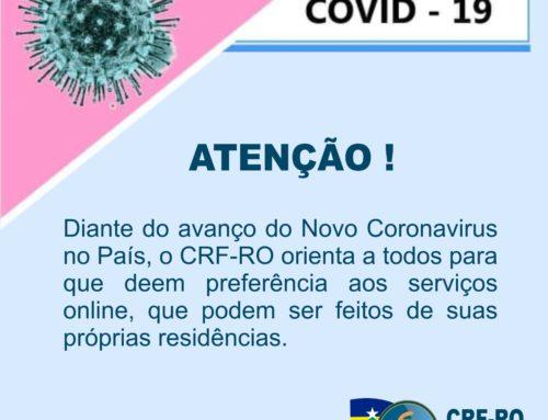CRF-RO orienta farmacêuticos para serviços online visando à prevenção ao Novo Coronavírus