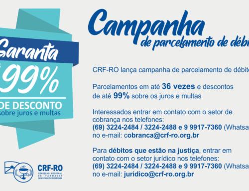 CRF/RO lança campanha de parcelamento de débitos