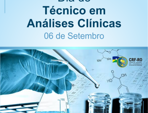 A Diretoria do CRF/RO parabeniza os profissionais Técnicos de Analises Clinicas pelo seu dia