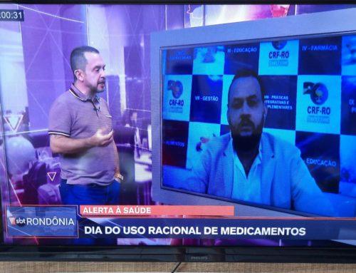 Assista à entrevista do Rogelio ao SBT Rondônia sobre o Uso Racional de Medicamentos