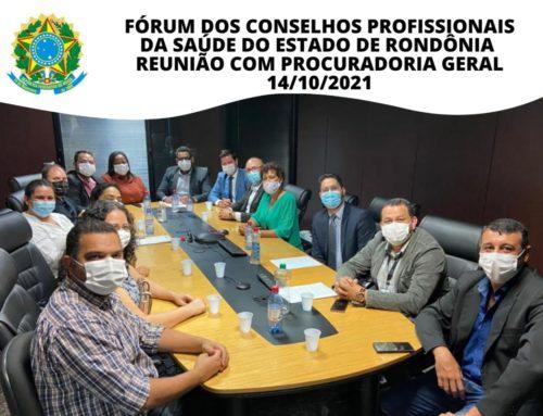 Fórum dos Conselhos Profissionais da Saúde de Rondônia participa de importantes reuniões sobre o PCCR